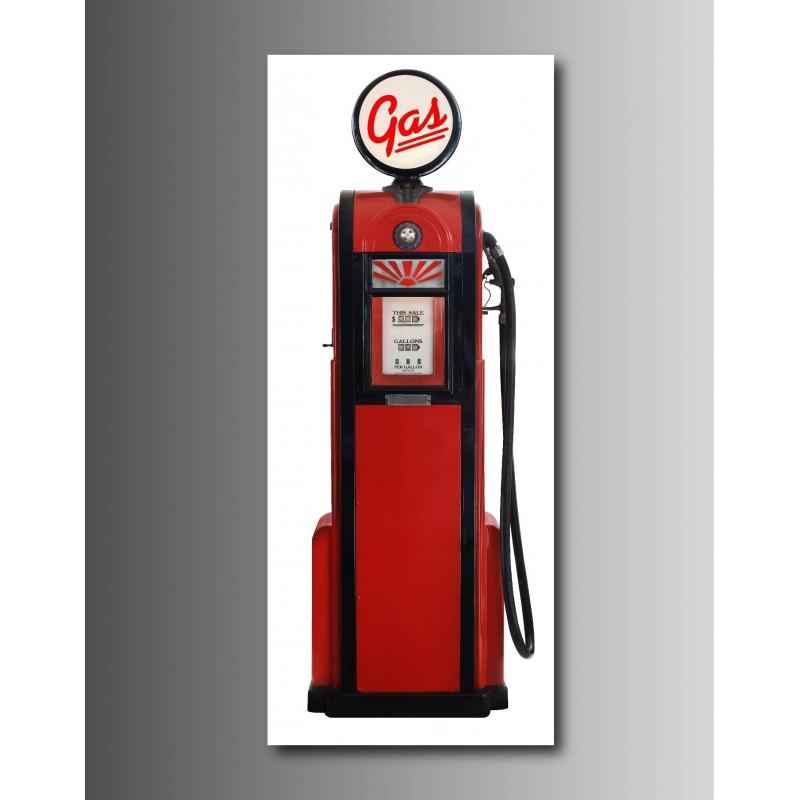 Tableaux toile d co rectangle verticale pompe essence for Pompe a essence deco