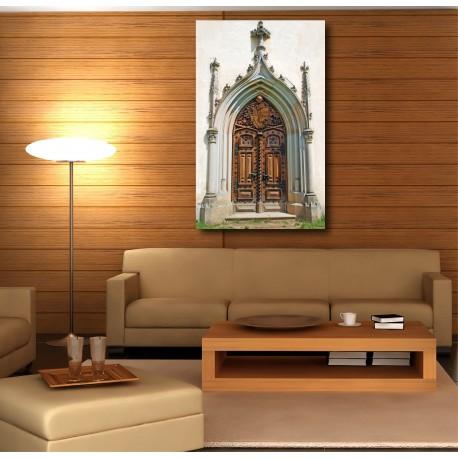 Tableaux toile déco rectangle porte église
