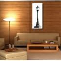 Tableaux toile déco rectangle verticale lampadaire