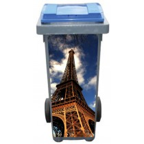 Stickers poubelle déco Tour Eiffel