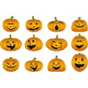 Sticker hallowen citrouille 41x26cm