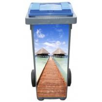 Stickers poubelle déco Les Antilles
