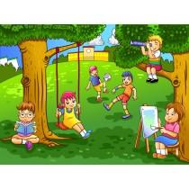 Stickers enfant géant Enfant jardin
