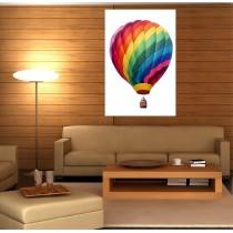 Tableaux toile déco rectangle verticale montgolfière