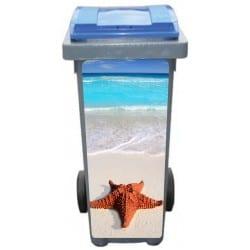 Stickers poubelle déco Etoile de mer