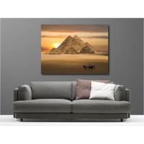 Tableaux toile déco rectangle Egypte Pyramide