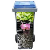 Stickers poubelle déco Fleur Orchidée