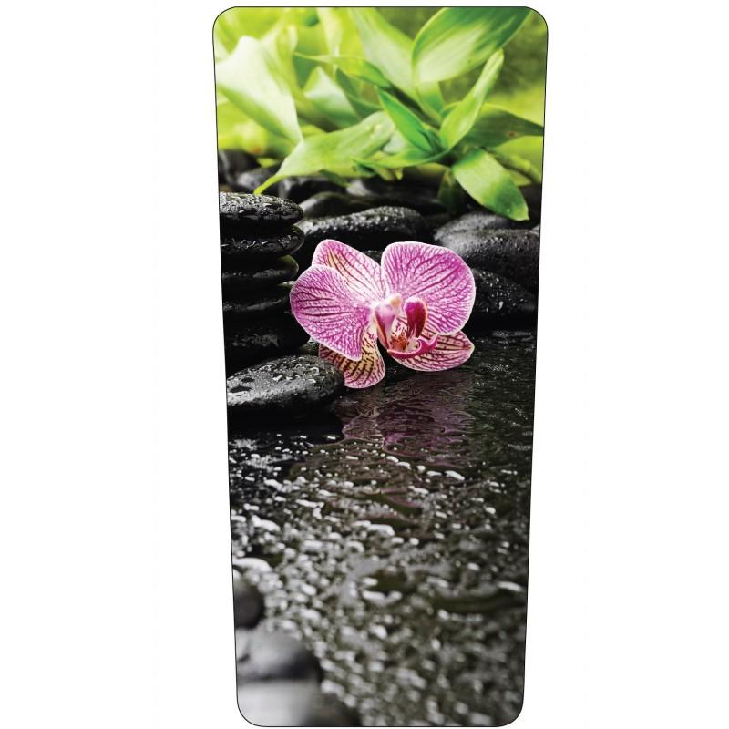 stickers poubelle d co fleur orchid e art d co stickers. Black Bedroom Furniture Sets. Home Design Ideas