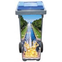 Stickers poubelle déco Versailles Fontaine