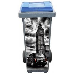 Stickers poubelle déco Londres Taxi