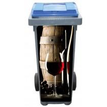 Stickers poubelle déco Vin tonneau