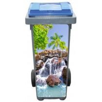 Stickers poubelle déco Cascades Tropiques