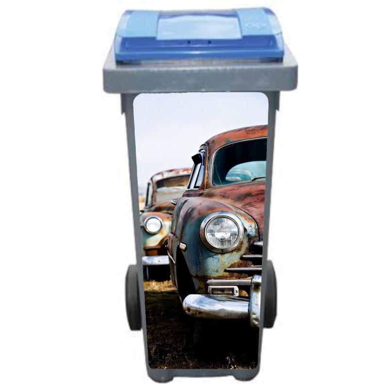 stickers poubelle d co voiture cuba art d co stickers. Black Bedroom Furniture Sets. Home Design Ideas