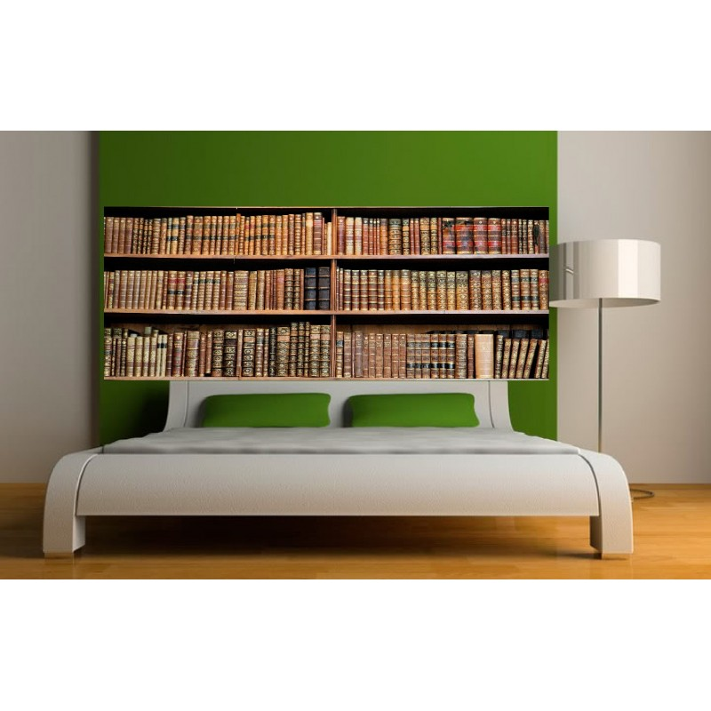 stickers t te de lit biblioth que art d co stickers. Black Bedroom Furniture Sets. Home Design Ideas