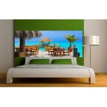 Stickers tête de lit Terrasse Tropiques