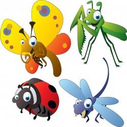 Sticker enfant Animaux Insectes 30x30cm