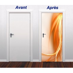 Sticker pour porte plane Design orange