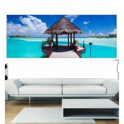Stickers panoramique Maldives