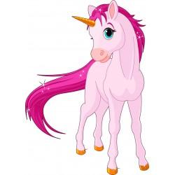 Sticker enfant cheval Licorne