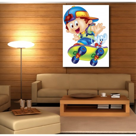 tableaux toile d co rectangle verticale enfant skatteur art d co stickers. Black Bedroom Furniture Sets. Home Design Ideas