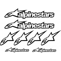 8 Stickers- Autocollants Alpinestars