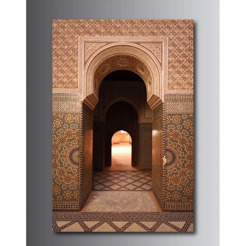 Tableaux Toile Déco Rectangle Verticale Porte Orientale Art Déco