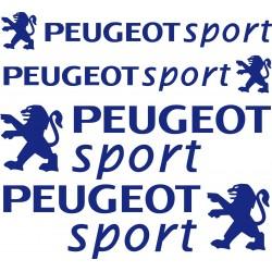 4 Stickers autocollants Peugeot Sport