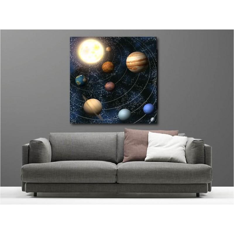 tableaux toile d co syst me solaire art d co stickers. Black Bedroom Furniture Sets. Home Design Ideas