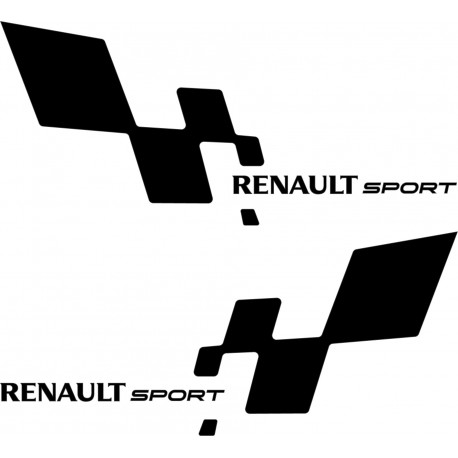 2 Stickers autocollants Renault Sport