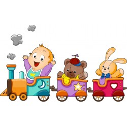 Stickers enfant Petit Train