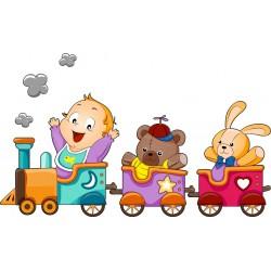 Stickers enfant Petit Train
