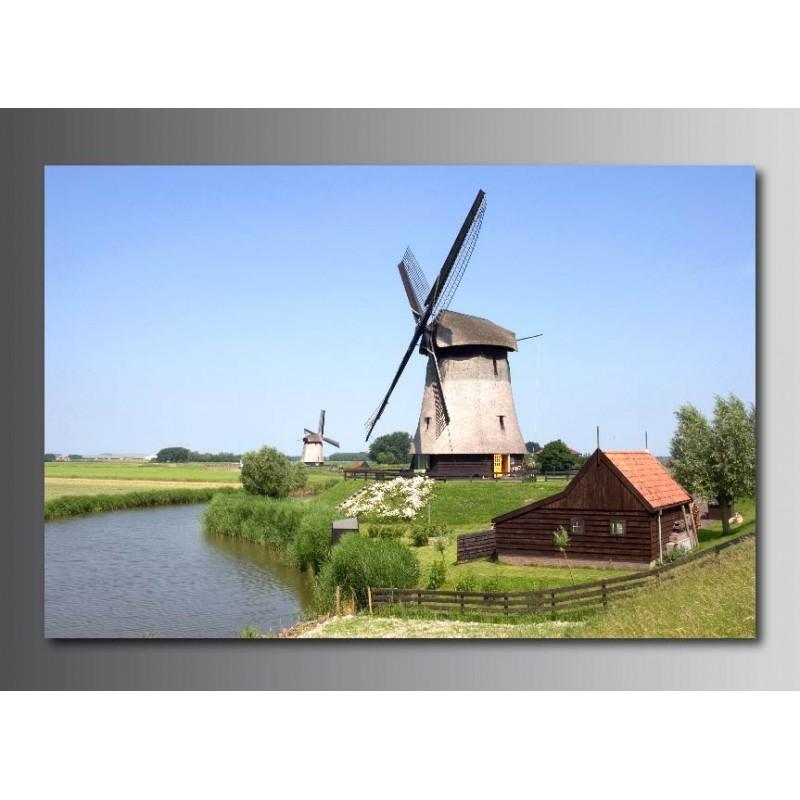 Tableaux toile d co rectangle moulin vent art d co stickers - Moulin a vent deco ...
