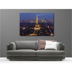 Tableaux toile déco Tour Eiffel vue du ciel 70028644