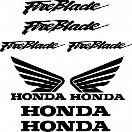 8 Stickers Autocollants Honda Fireblade