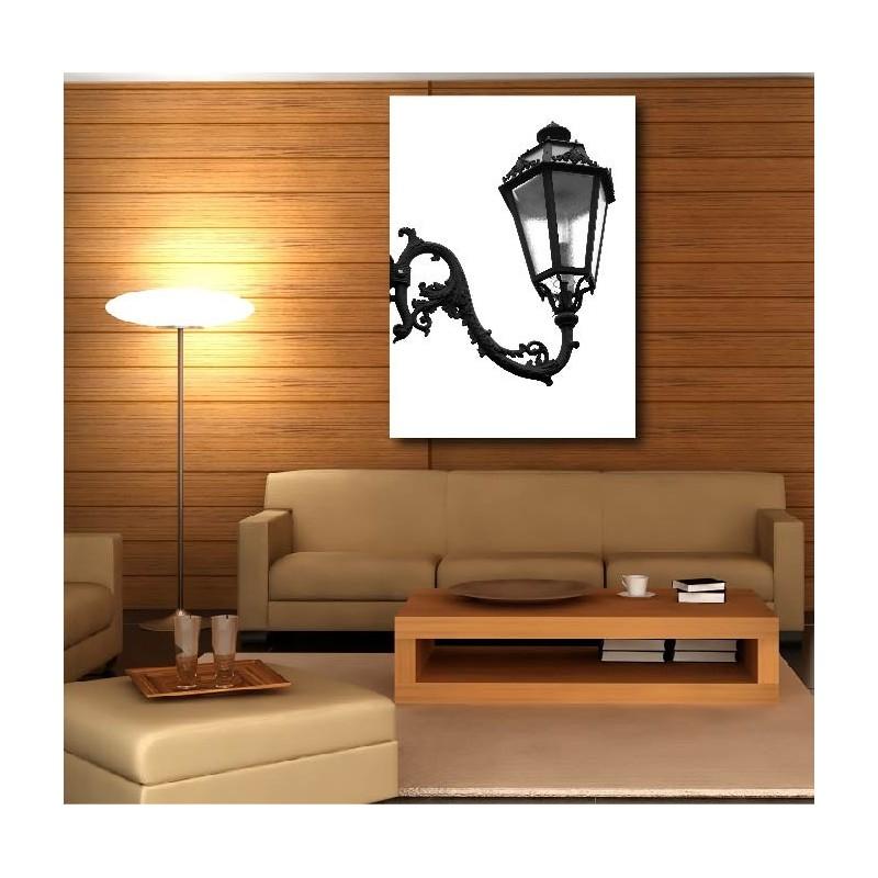 tableaux toile d co rectangle lampadaire art d co stickers. Black Bedroom Furniture Sets. Home Design Ideas