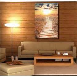 Tableaux toiles déco en kit Couché de soleil  réf 55336516