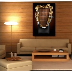Tableaux toile déco rectangle verticale tablette de chocolat