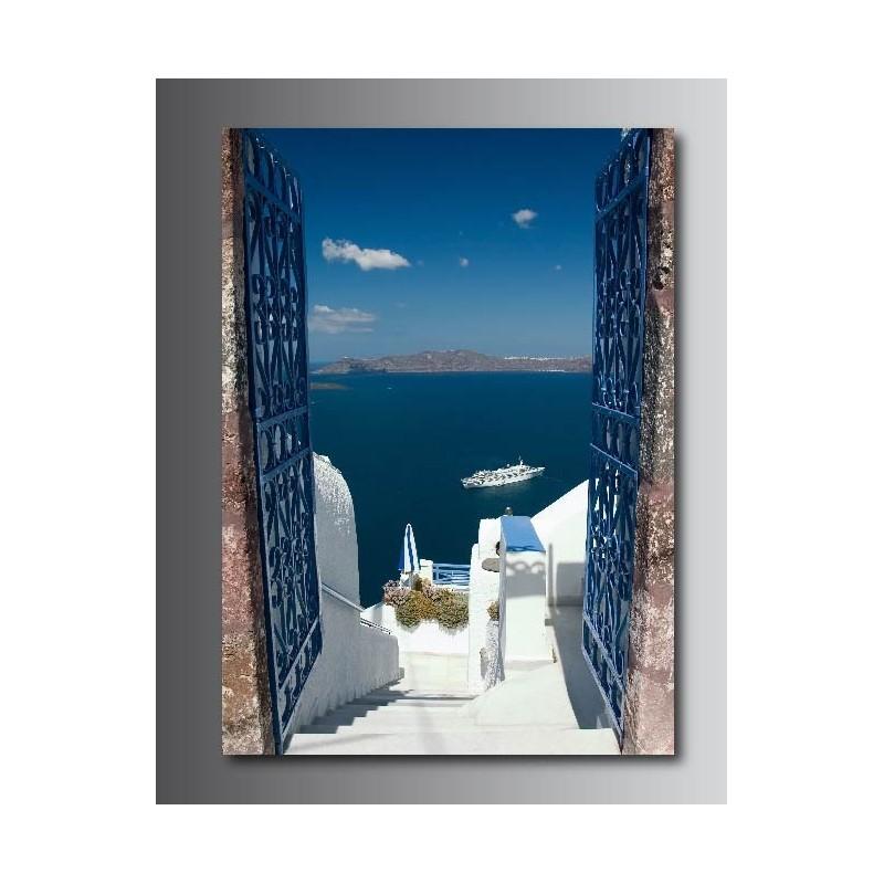 tableaux toile d co rectangle verticale belle vue sur la mer art d co stickers. Black Bedroom Furniture Sets. Home Design Ideas
