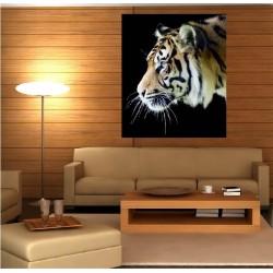 Tableaux toile déco rectangle verticale tigre