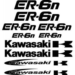 10 Stickers- Autocollants Kawasaki ER-6n