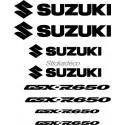 8 Sticker Autocollant Suzuki GSX-R 650