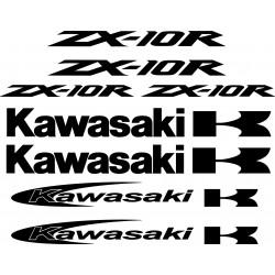 8 Stickers Autocollants Kawasaki Zx10r