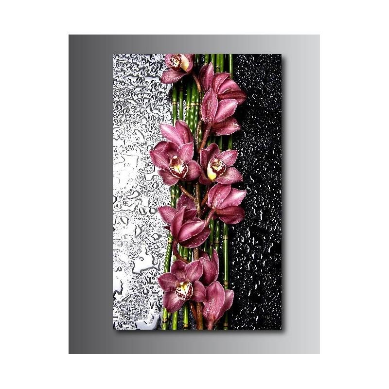 tableaux toile d co rectangle verticale orchid e art. Black Bedroom Furniture Sets. Home Design Ideas