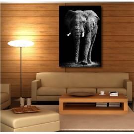 Tableaux toile déco rectangle verticale éléphant