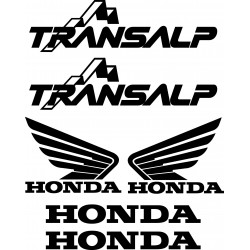6 Stickers Autocollants Honda Transalp
