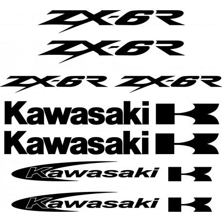 8 Stickers Autocollants Kawasaki Zx6r