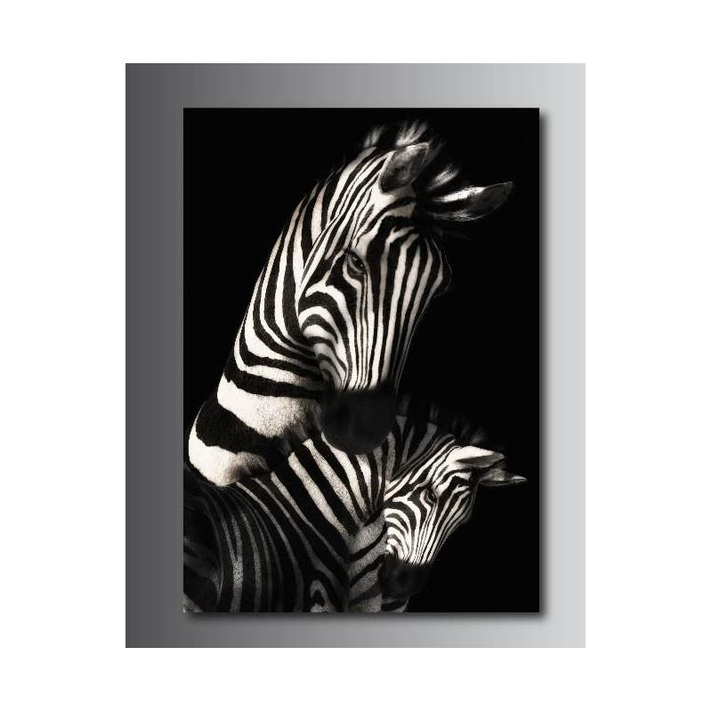 Tableaux toile d co rectangle verticale z bre art d co for Deco zebre