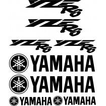 8 Stickers Autocollants Yamaha YZFR6