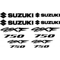 8 Sticker Autocollant Suzuki GSXF 750