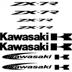8 Stickers Autocollants Kawasaki Zx7r
